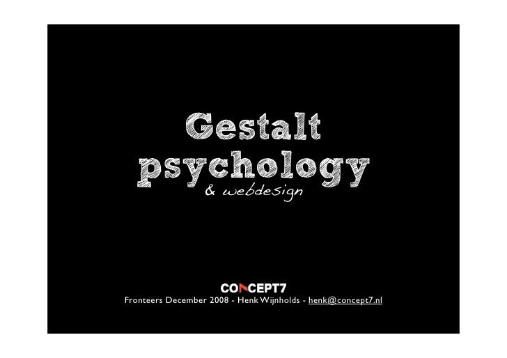 gestalt psychology reflection The main founders of gestalt psychology are max wertheimer, kurt koffka and wolfgang köhler we will write a custom essay sample on gestalt psychology reflection specifically for you for.