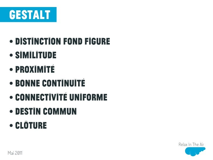 gestalt• distinction fond figure• Similitude• Proximité• Bonne continuité• connectivité uniforme• Destin commun• Clôture  ...