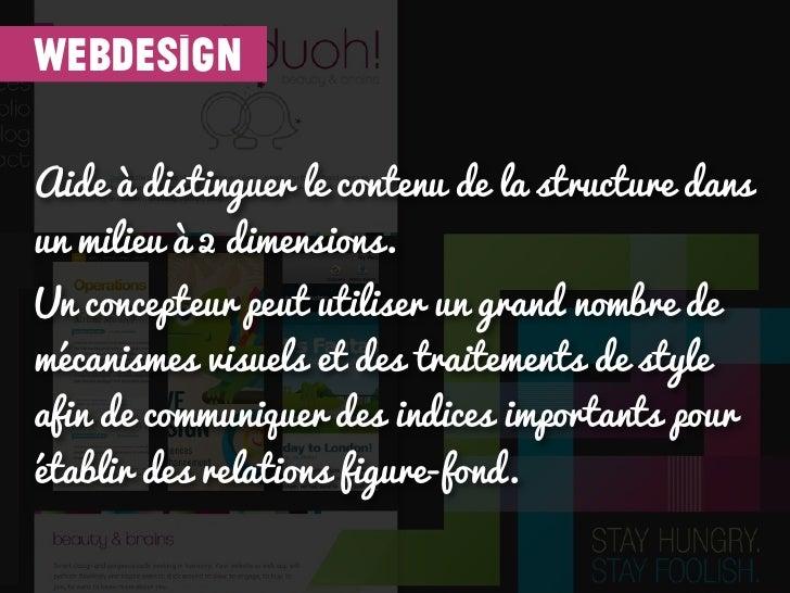 webdesignAide à distinguer le contenu de la structure dansun milieu à 2 dimensions.Un concepteur peut utiliser un grand no...
