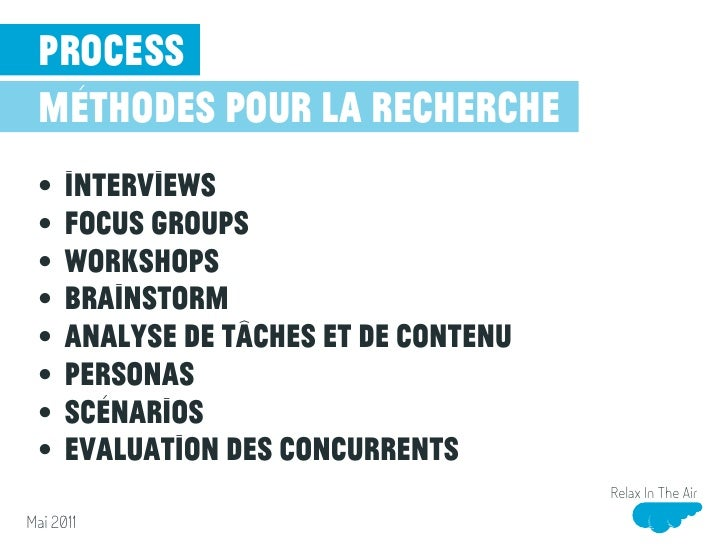 process méthodes pour la conception •    Storyboards •    Croquis •    Wireframe •    Wireflow •    Modélisation de naviga...