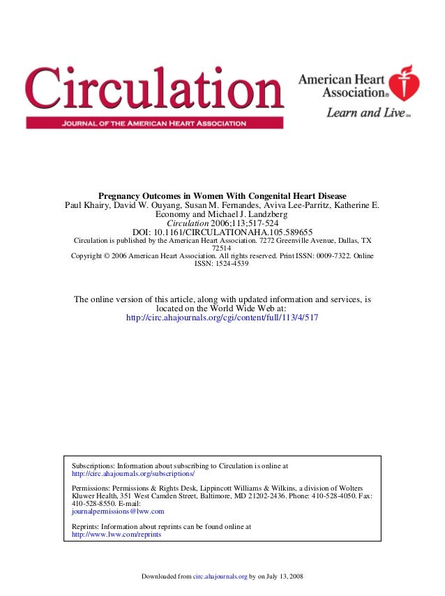 ISSN: 1524-4539 Copyright © 2006 American Heart Association. All rights reserved. Print ISSN: 0009-7322. Online 72514 Circ...
