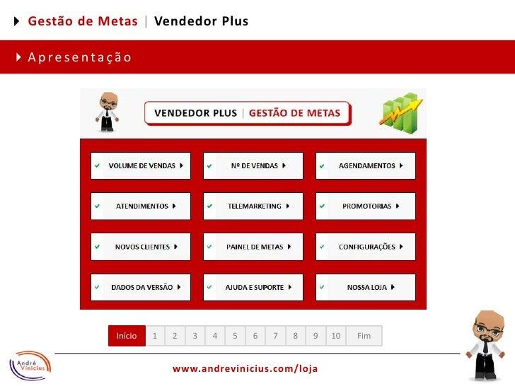 4 Gestão de Metas |Vendedor Plus<br />4Apresentação<br />1<br />2<br />3<br />4<br />5<br />6<br />7<br />8<br />9<br />10...