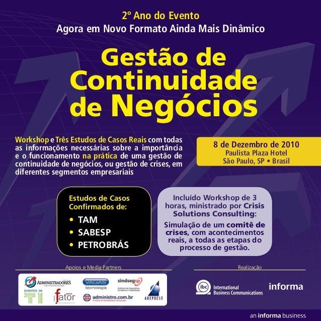 Realização Workshop eTrês Estudos de Casos Reais com todas as informações necessárias sobre a importância e o funcionament...