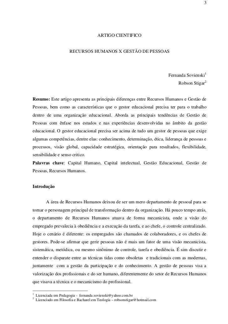 3                                         ARTIGO CIENTIFICO                        RECURSOS HUMANOS X GESTÃO DE PESSOAS   ...