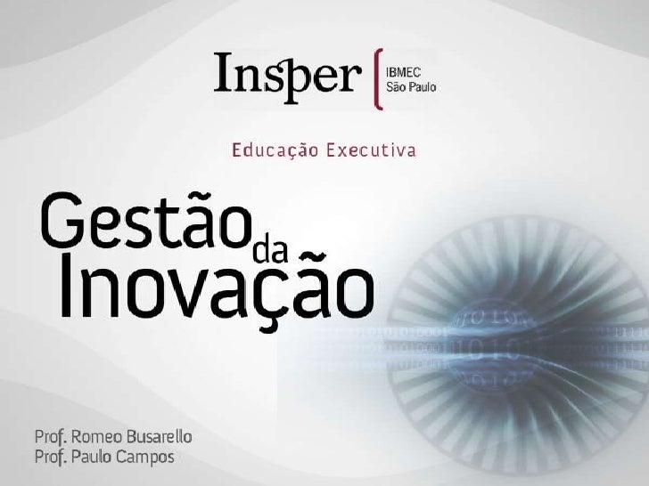 Gestão da Inovação Insper