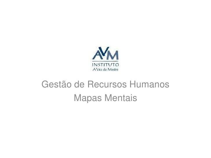 Gestão de Recursos Humanos<br />Mapas Mentais<br />