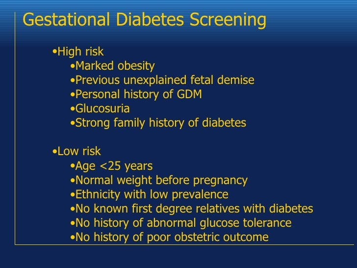 the gestational diabetes test A glucose screening test is a routine test during pregnancy that checks a pregnant woman's blood glucose (sugar) level gestational diabetes is high blood sugar that starts or is found during pregnancy.