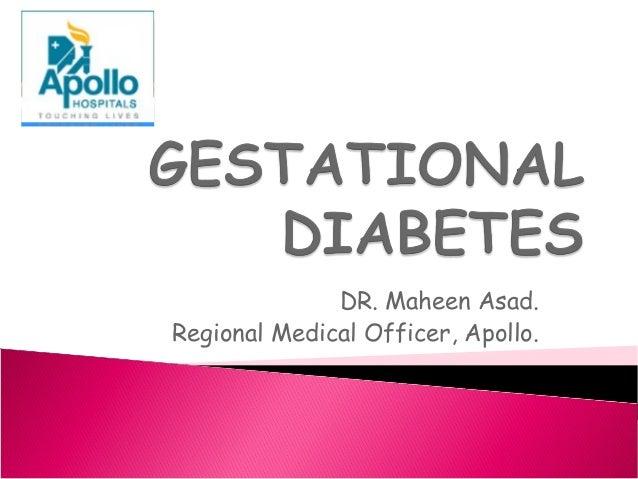 DR. Maheen Asad. Regional Medical Officer, Apollo.
