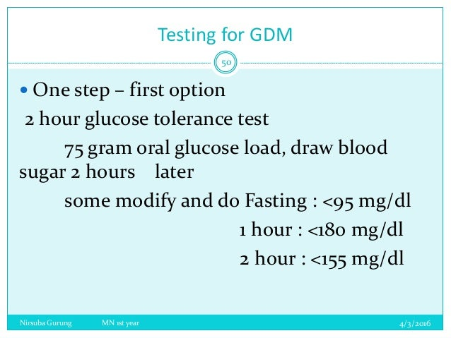 Investigating the oral glucose tolearnce test