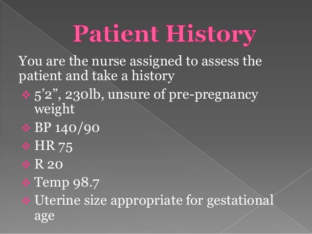 Gestational diabetes nursing case study