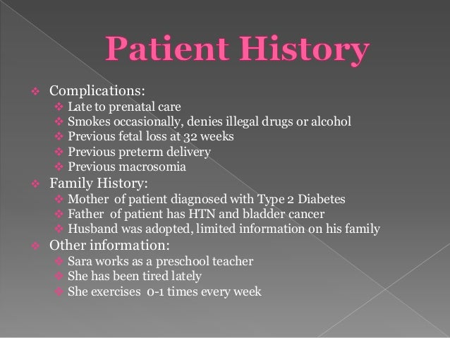 Gestational diabetes case study 2nd one