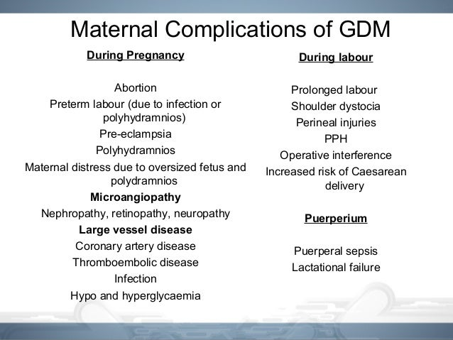 Gestational diabetes mellitus