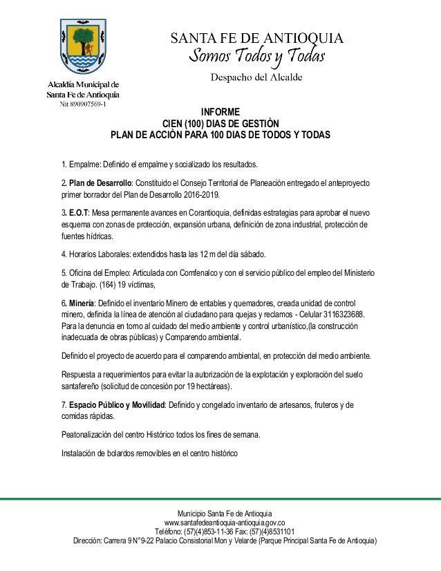 Municipio Santa Fe de Antioquia www.santafedeantioquia-antioquia.gov.co Teléfono: (57)(4)853-11-36 Fax: (57)(4)8531101 Dir...