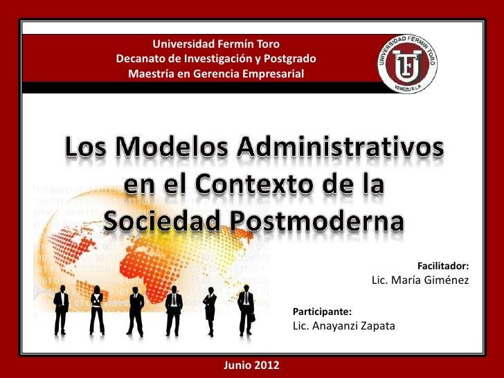 Universidad Fermín ToroDecanato de Investigación y Postgrado  Maestría en Gerencia Empresarial                            ...