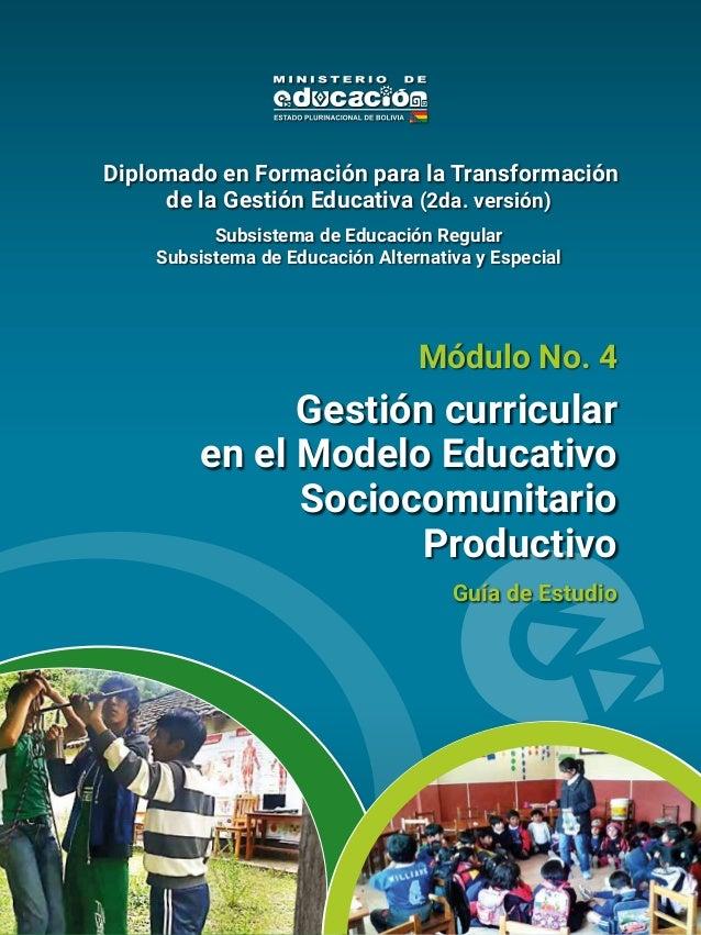 Gestión Curricular En El Modelo Educativo Sociocomunitario