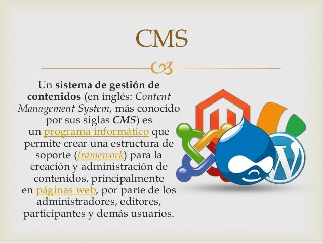 Gestión de contenidos web Slide 2