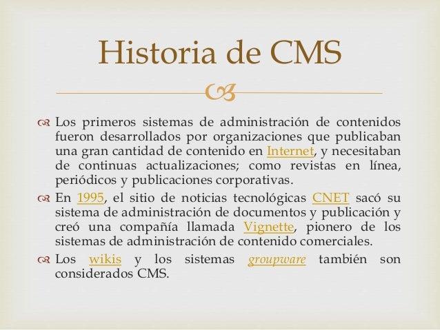 Gestión de contenidos web Slide 3