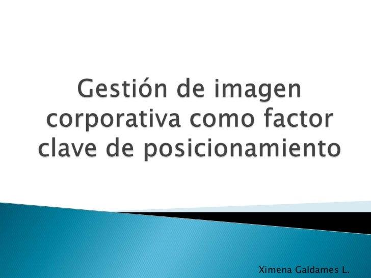 Ximena Galdames L.