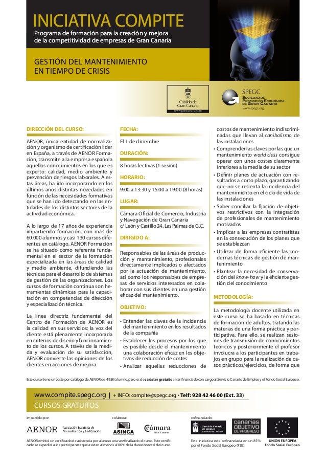 Programa de formación para la creación y mejora de la competitividad de empresas de Gran Canaria INICIATIVA COMPITEProgram...