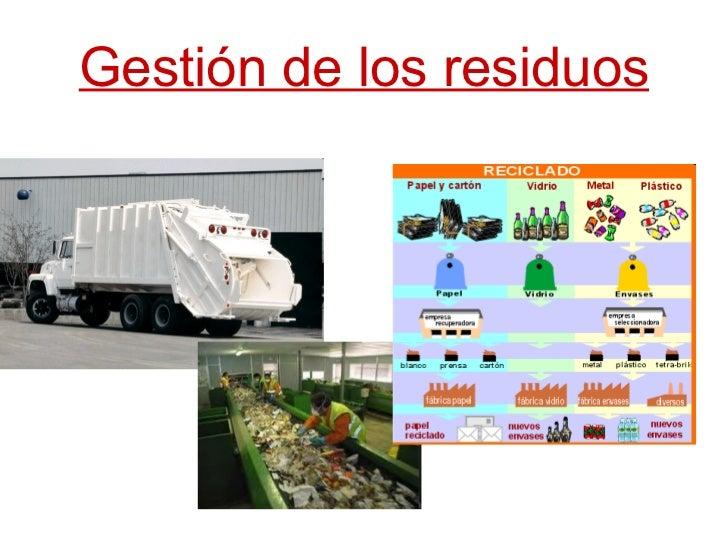 Gestión de los residuos