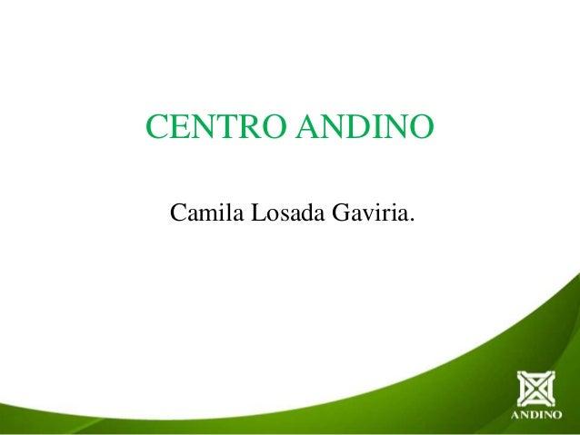 CENTRO ANDINOCamila Losada Gaviria.