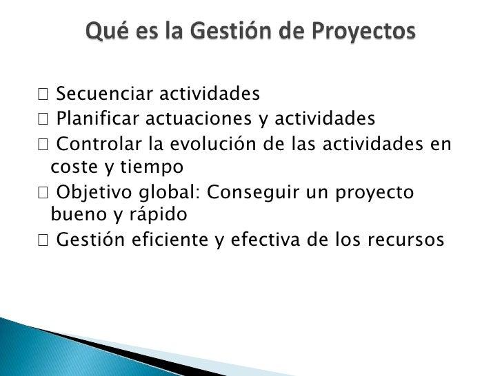 Gestión de proyectos Slide 2