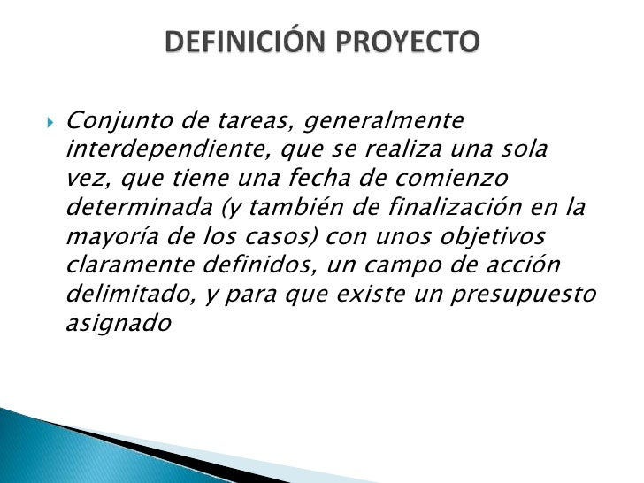 Gestión de proyectos Slide 3