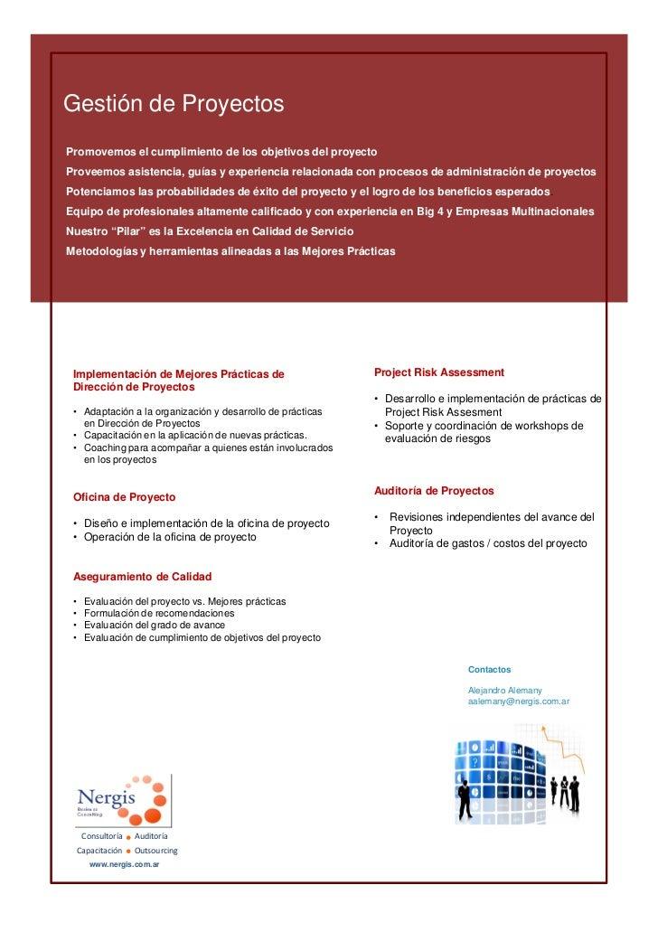 Gestión de ProyectosPromovemos el cumplimiento de los objetivos del proyectoProveemos asistencia, guías y experiencia rela...