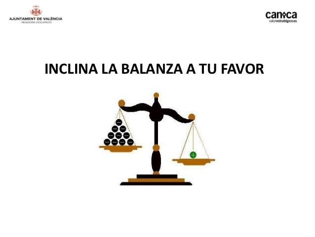 INCLINA LA BALANZA A TU FAVOR
