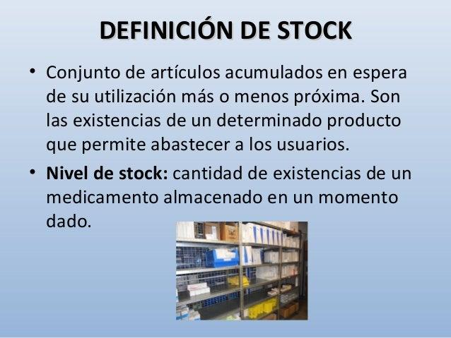 Criterio funcional • Stock activo • Stocks máximo y mínimo • Stock de seguridad • Stock de alerta • Stock estacional • Sto...