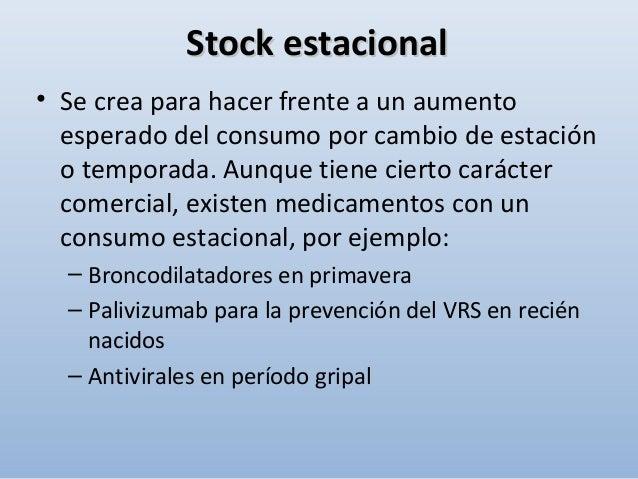 3)3) Stock físico:Stock físico: Es la cantidad de artículo disponible en un momento determinado en el almacén. Nunca puede...