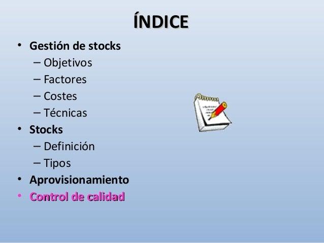 ÍNDICE DE ROTACIÓN = Consumo (€) Existencias (€) Consumo: 4.300.000 € Existencias: 4.000.000 € EJEMPLO: cálculo del índice...