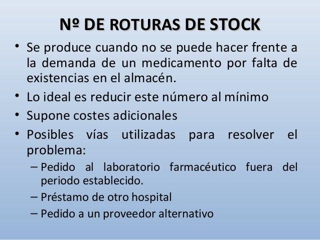Gestión de stocks de medicamentos