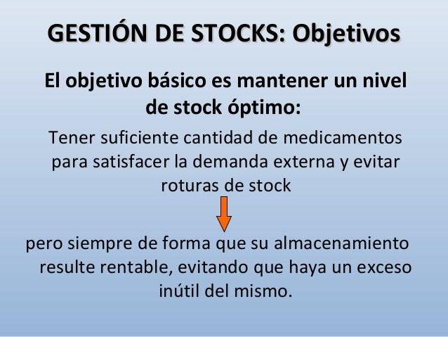 Los costes más importantes asociados a un sistema de gestión de stocks se pueden agrupar en: • Costes de adquisición • Cos...
