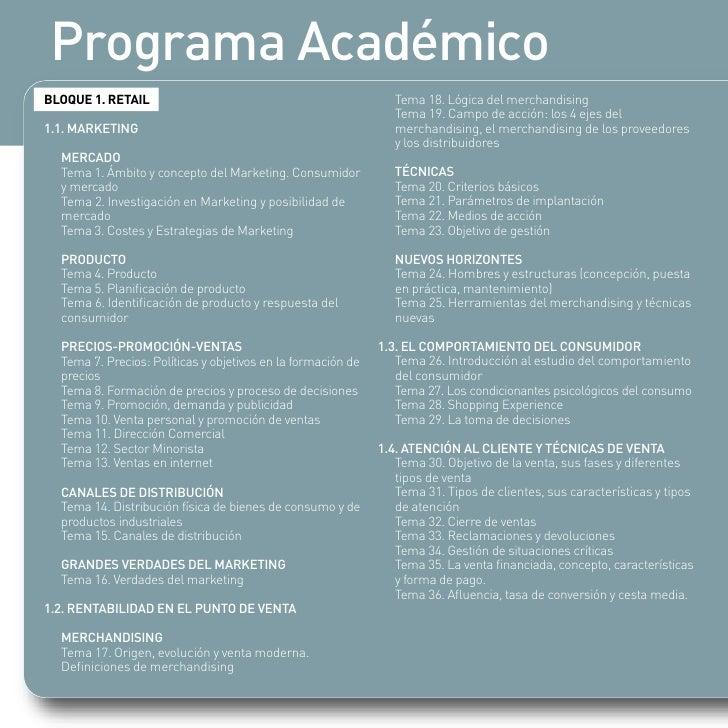Programa Académico BLOQUE 1. RETAIL                                                 Tema 18. Lógica del merchandising     ...