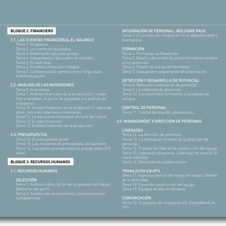 BLOQUE 2. FINANCIERO                                              INTEGRACIÓN DE PERSONAL: WELCOME PACK                   ...