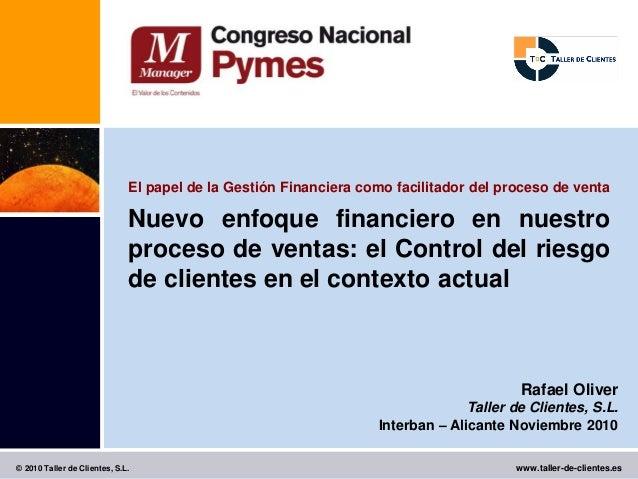 El papel de la Gestión Financiera como facilitador del proceso de venta                              Nuevo enfoque financi...
