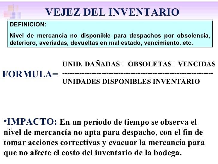 DEFINICION: Nivel de mercancía no disponible para despachos por obsolencia, deterioro, averiadas, devueltas en mal estado,...
