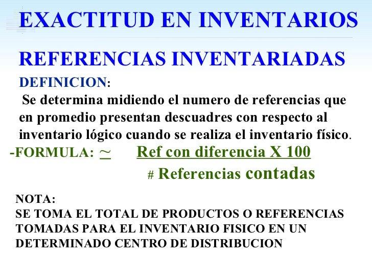 -FORMULA:   ~   Ref con diferencia X 100   #  Referencias  contadas DEFINICION : Se determina midiendo el numero de refere...