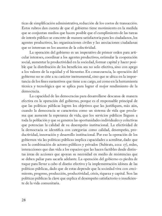 29 Valor político de la gestión pública Una faceta de la gestión pública que destaca su naturaleza y alcance consis- te en...
