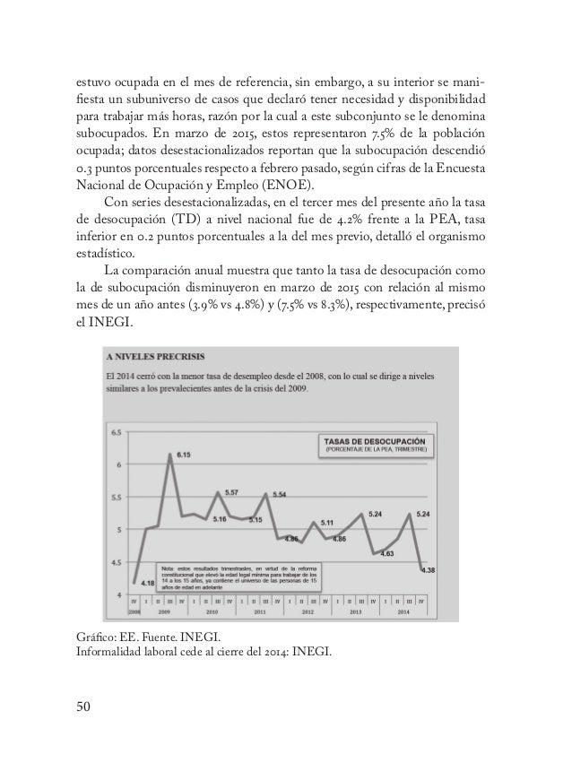 51 Índices de desigualdad De los 34 países de la Organización para la Cooperación y el Desarrollo Eco- nómicos (OCDE), Méx...