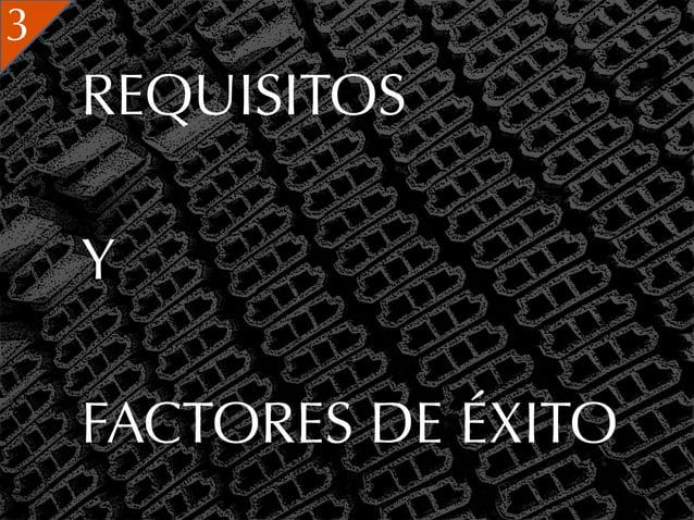 3    REQUISITOS    Y    FACTORES DE ÉXITO