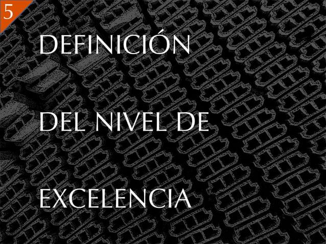 5    DEFINICIÓN    DEL NIVEL DE    EXCELENCIA