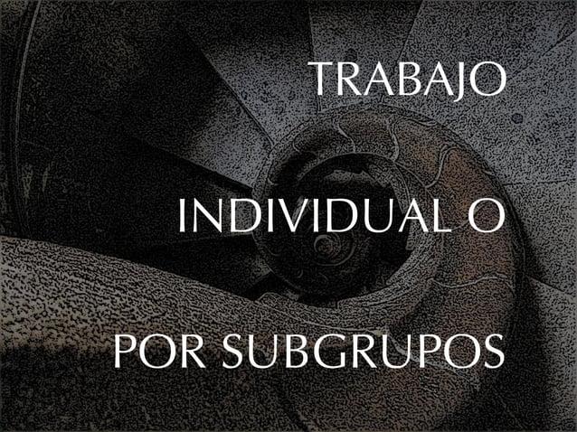 TRABAJO  INDIVIDUAL OPOR SUBGRUPOS