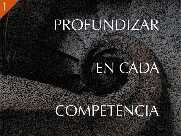 1    PROFUNDIZAR        EN CADA    COMPETENCIA