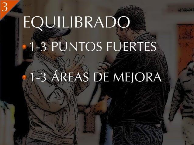 3    EQUILIBRADO    1-3 PUNTOS FUERTES    1-3 ÁREAS DE MEJORA