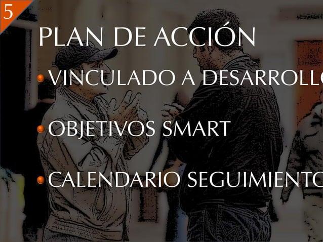 5    PLAN DE ACCIÓN    VINCULADO A DESARROLLO    OBJETIVOS SMART    CALENDARIO SEGUIMIENTO