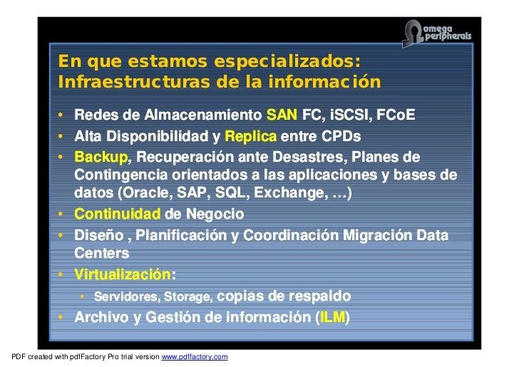 Gestión unificada del almacenamiento de datos y su protección