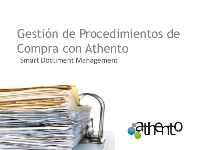 Gestión de Procedimientos de Compra con Athento Smart Document Management