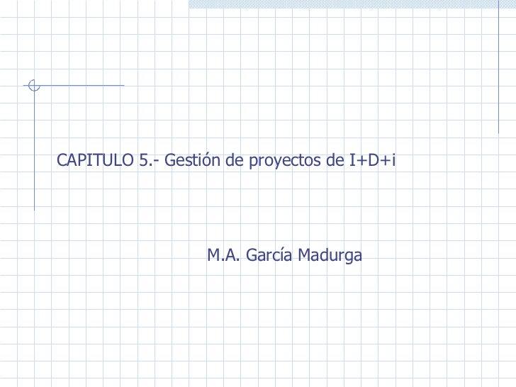 CAPITULO 5.- Gestión de proyectos de I+D+i M.A. García Madurga
